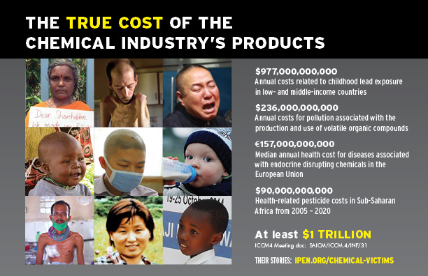 "Front of ""The True Costs of the Chemical Industry's Products"" postcard"