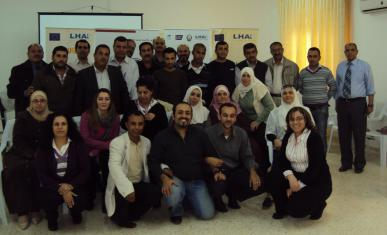 Participants at a meeting organized by Baytuna Society