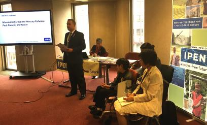 IPEN International Coordinator Bjorn Beeler opening the press conference