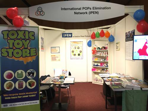 IPEN's Toxic Toy Store at the Basel, Rotterdam & Stockholm Conferences of the Parties