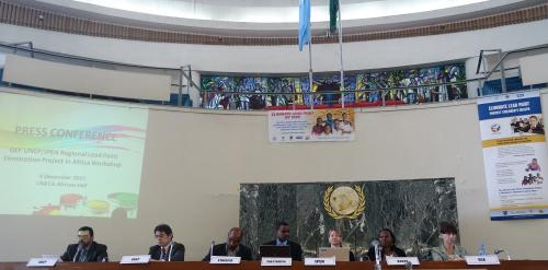 IPEN and GEF press conference at Africa Lead Paint Elimination Workshop in Ethiopia