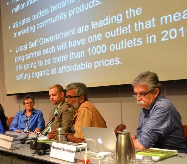 Jayakumar Chelaton speaking during the side event (Photo by Shahriar Hossain