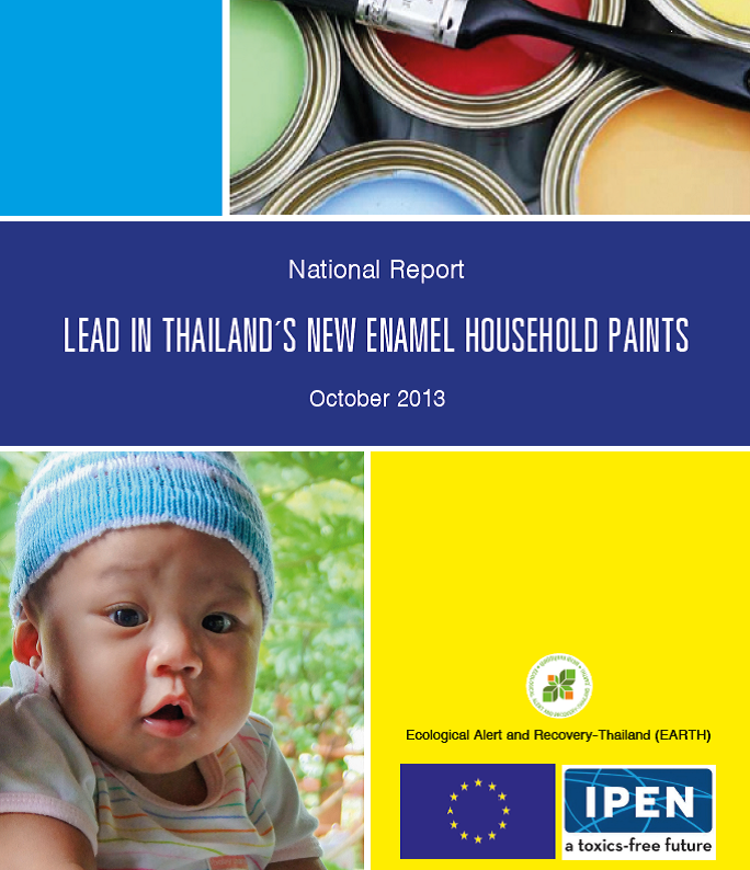 Lead in Thailand's New Enamel Household Paints report cover