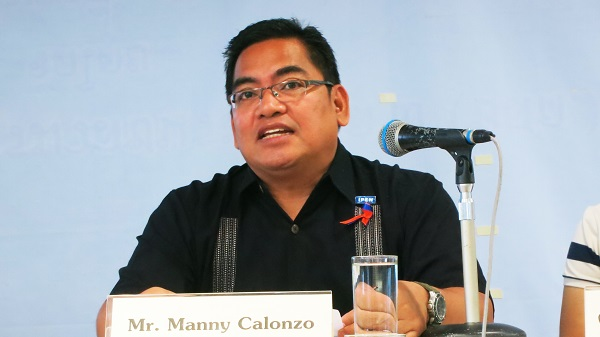 Manny Calonzo, IPEN Co-Chair, at press conference (Photo by TCIJ)
