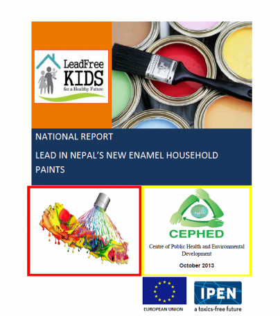 Nepal lead paint report cover