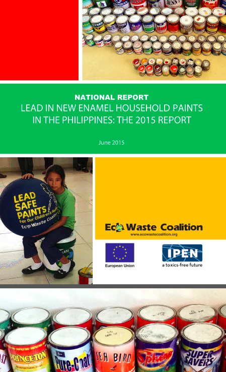 Philippines 2015 Lead Paint report cover