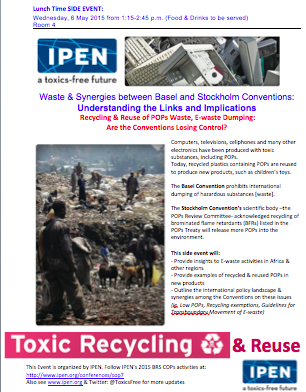 Waste & Synergies side event flyer
