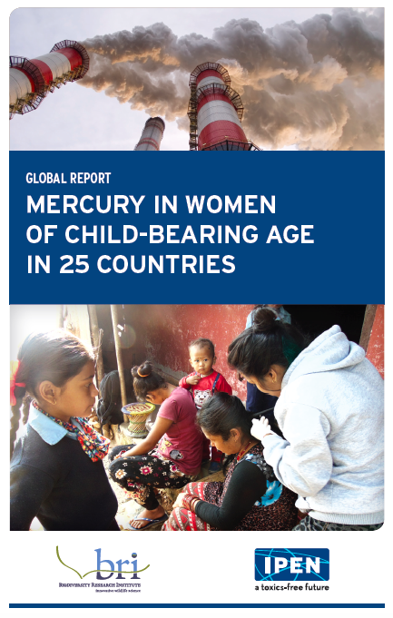 Mercury in Women report cover