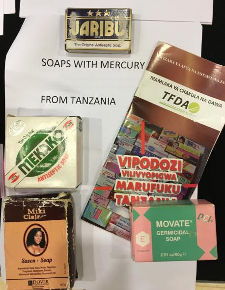 Soaps from Tanzania that contain mercury