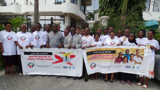 Tanzanian group at the inception meeting for their Lead Paint Elimination Campaign