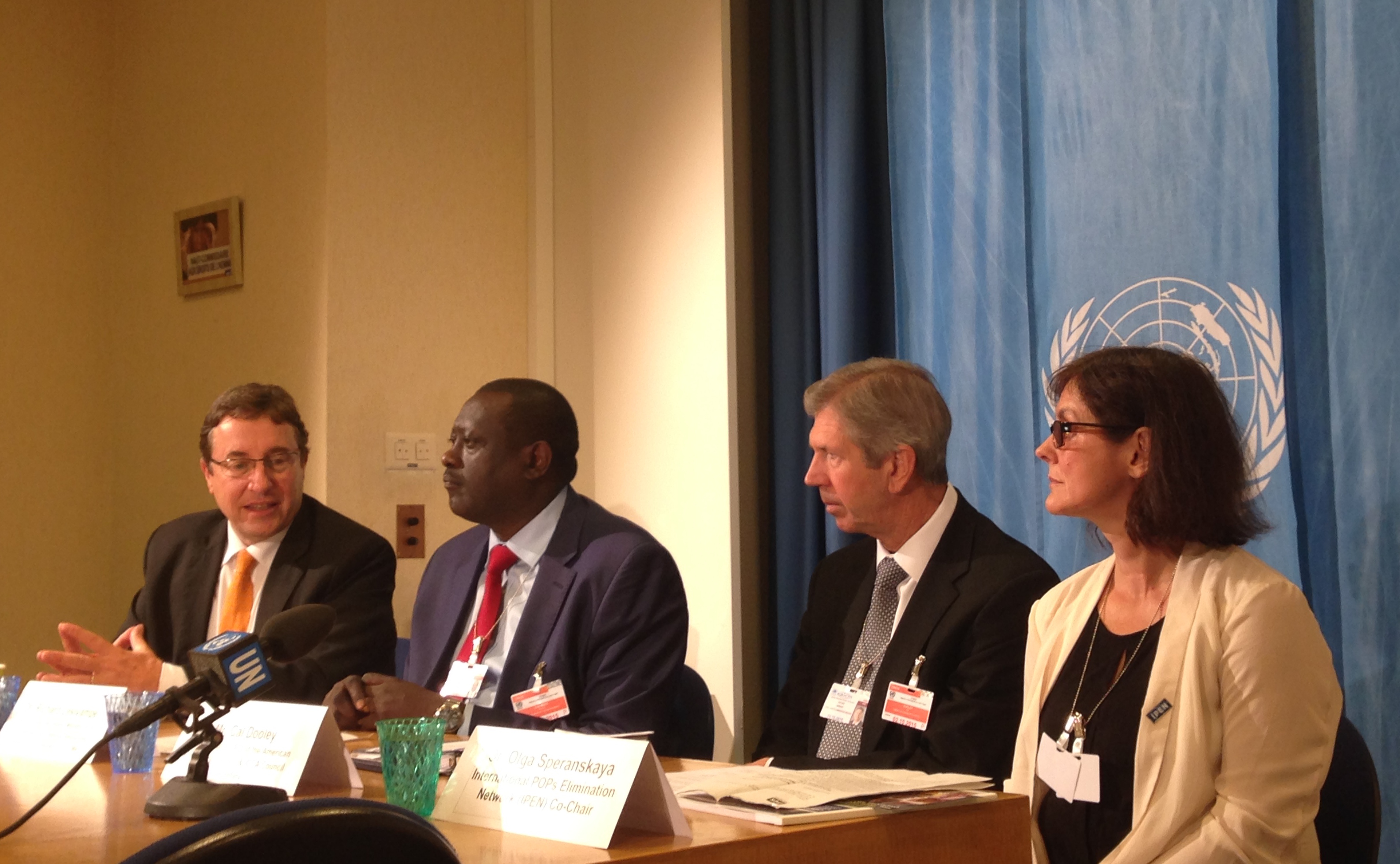 Olga Speranskaya at the United Nations Environment Programme Press Briefing