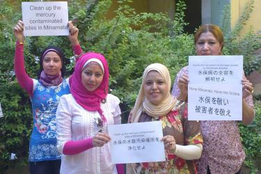 Egyptian NGO Day Hospital showing support for Minamata victims