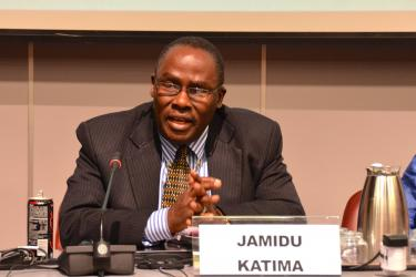 Jamidu Katima speaking at the side event
