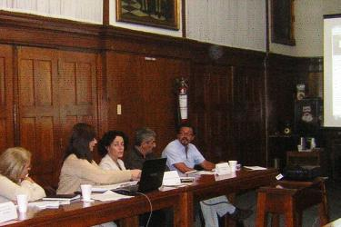 Participants of a webinar about lead held in Uruguay