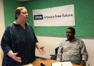 IPEN Co-Chairs Pamela Miller and Dr. Tadesse Amera at the IPEN prep meeting