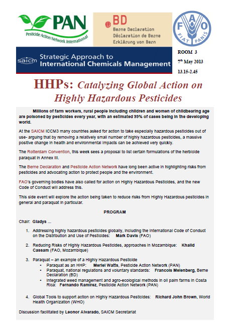 PAN HHP side event flier