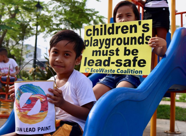 EcoWaste in the Philippines called for safer paints for playground equipment