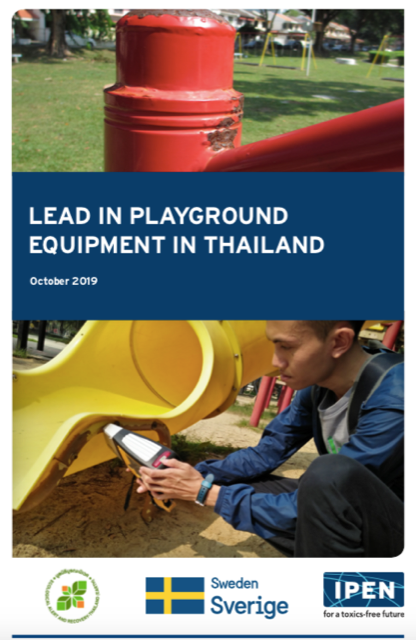 Earth Thailand found high levels of lead in playground structures