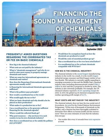 Financing the Sound Management of Chemicals FAQ
