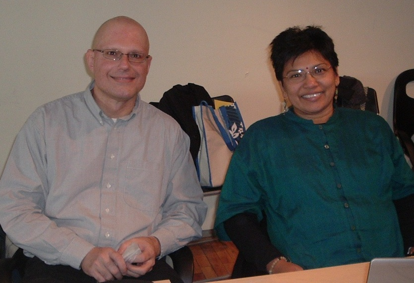 Joe DiGangi and Sarojeni Rengam, SAICM Global Outreach Campaign Meeting, January 2008, Toronto