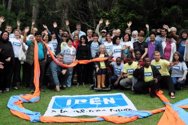IPEN group waving at 2012 General Assembly in Brazil